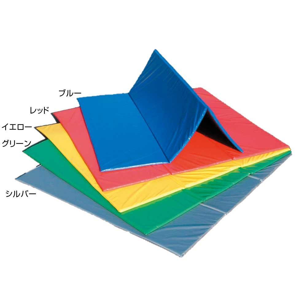 三ツ折ストレッチマット 180×180×2cm F-68 ブルー [ラッピング不可][代引不可][同梱不可]