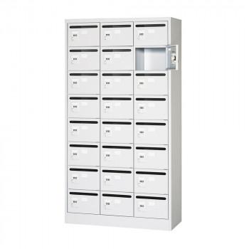 オフィス・店舗向け メールボックス 3列8段 ダイヤル錠 ホワイト COM-MVK-24P COM-MVK-24P [ラッピング不可][代引不可][同梱不可]