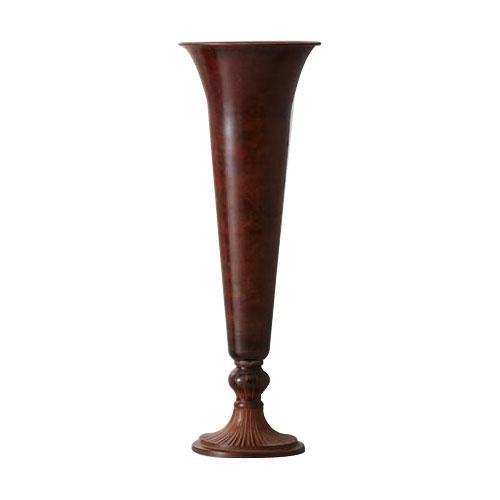 真鍮(ブラス)花瓶 THE BRASS 15.5φ44H BROWN 593-367-200 [ラッピング不可][代引不可][同梱不可]