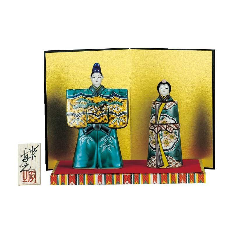 九谷焼 5.5号立雛人形 吉田屋松竹梅 N189-05