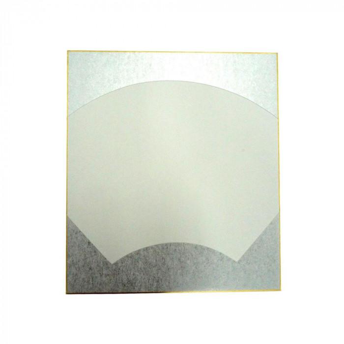 大色紙 絵馬型 外銀潜紙 特上 50枚 0054