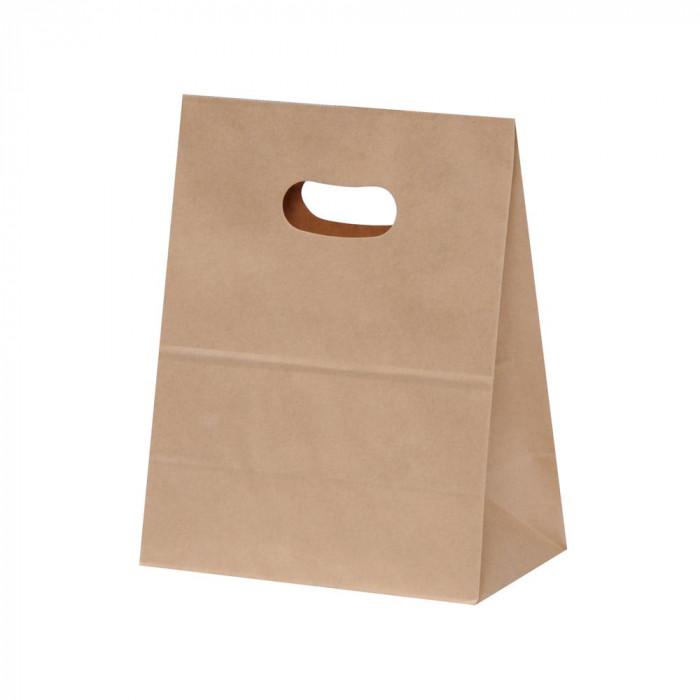 パックタケヤマ 紙袋 イーグリップ M 茶無地 50枚×10包 XZT52002 [ラッピング不可][代引不可][同梱不可]