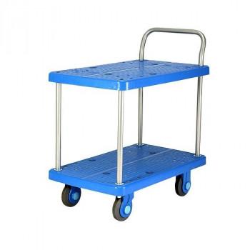 静音台車 テーブル2段式 最大積載量250kg PLA250-T2 [ラッピング不可][代引不可][同梱不可]