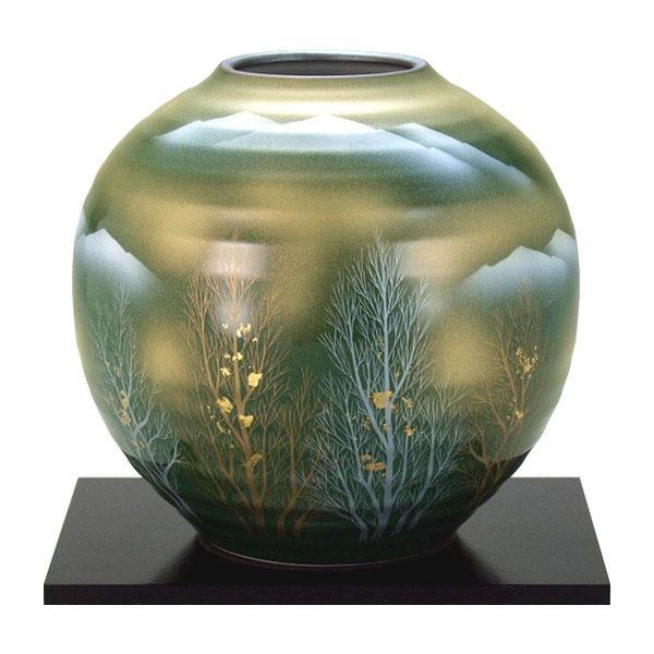 九谷焼 7号花瓶 金箔木立連山 N171-02 [ラッピング不可][代引不可][同梱不可]
