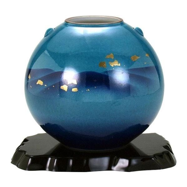 九谷焼 7号花瓶 釉彩金箔連山 N171-03 [ラッピング不可][代引不可][同梱不可]