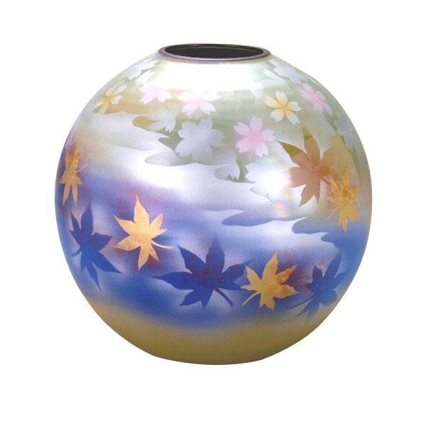 九谷焼 吉臣作 7号花瓶 春秋 N171-04