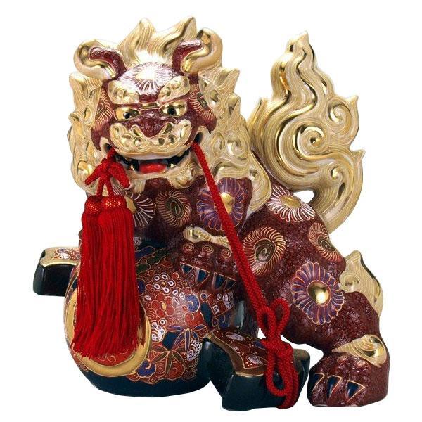 九谷焼 13号小槌獅子 盛 N194-15