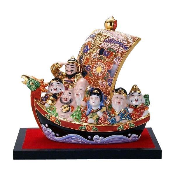 九谷焼 7号七福神宝船 盛 N196-12 [ラッピング不可][代引不可][同梱不可]