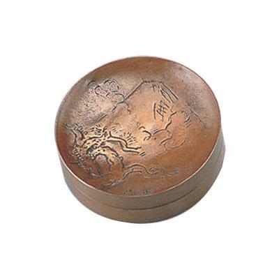 高岡銅器 銅製置物 北村西望作 朱肉入 富士 25-06