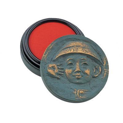 高岡銅器 銅製置物 北村西望作 朱肉入 将軍の孫 大 25-07
