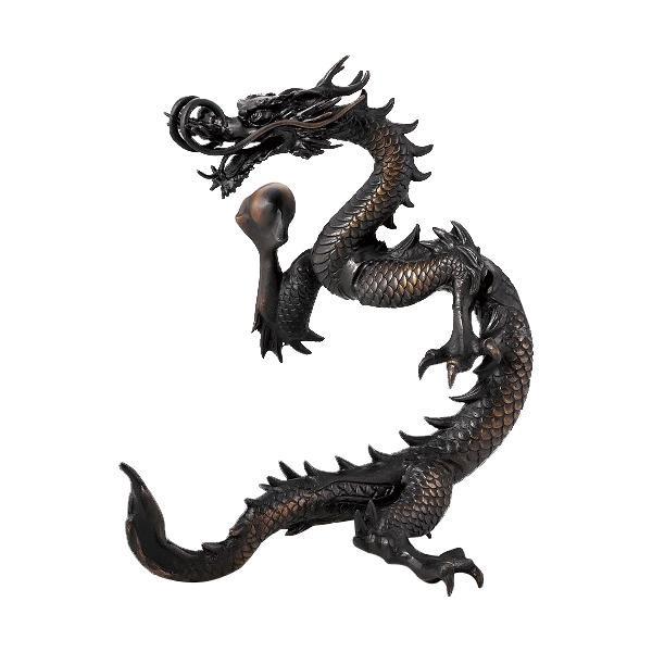 高岡銅器 銅製置物 古手色 昇龍 36-05