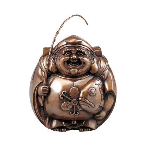 高岡銅器 銅製置物 山吹色 招福 恵比寿 中 39-12