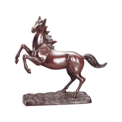 高岡銅器 銅製置物 台付飛馬 49-02