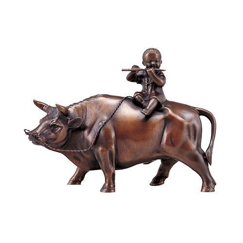 高岡銅器 銅製置物 立牛童子 8号 50-11