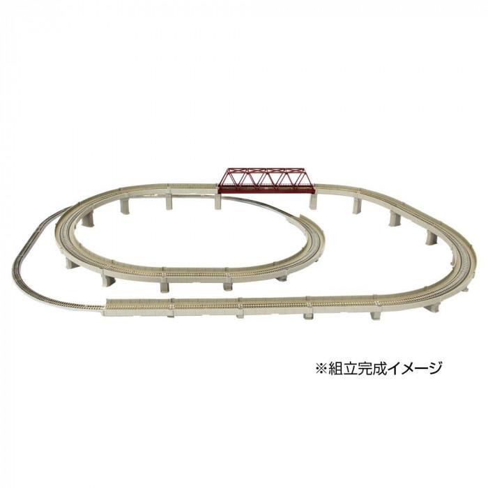 レールセットD 単線立体交差セット R063
