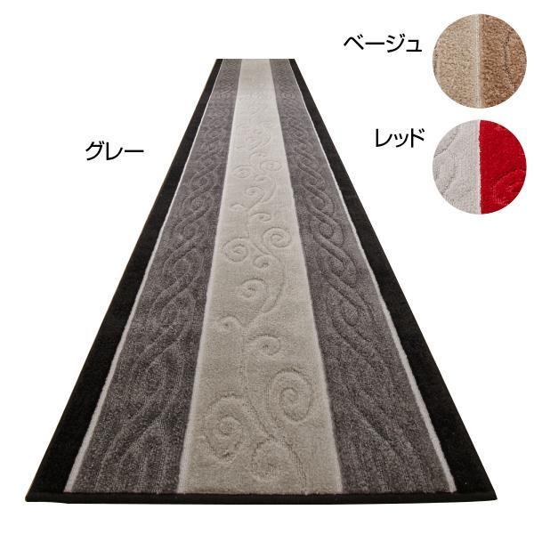 トルコ製生地 廊下敷き 廊下マット 65×540cm ベージュ [ラッピング不可][代引不可][同梱不可]