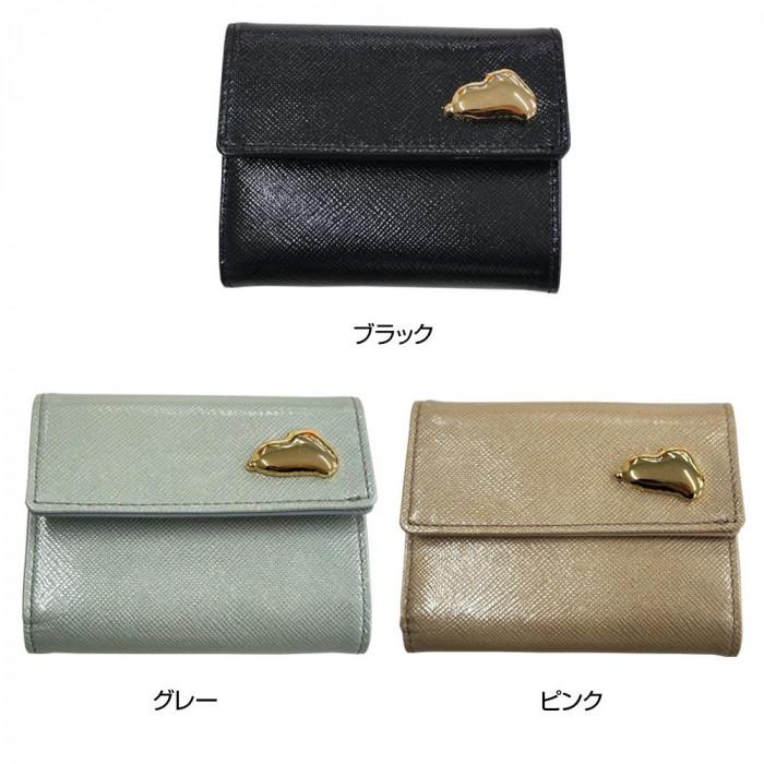 ピーナッツ スヌーピー 73191 極小 三つ折財布 ブラック