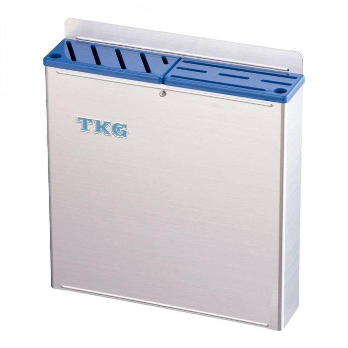 TKG 18-8プラ板付 カラーナイフラック 大 ABタイプ AHU-67 青 7-0361-0305