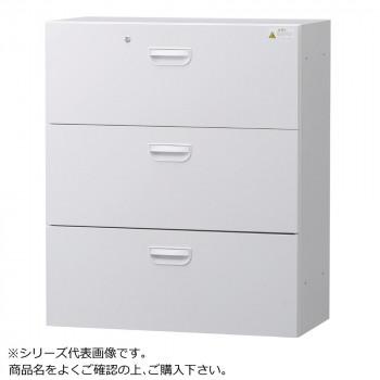 豊國工業 壁面収納庫浅型ラテラル3段 ホワイト HOS-L3SN BN-90色(ホワイト) [ラッピング不可][代引不可][同梱不可]