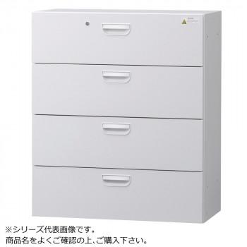 豊國工業 壁面収納庫浅型ラテラル4段 ホワイト HOS-L4SN BN-90色(ホワイト) [ラッピング不可][代引不可][同梱不可]