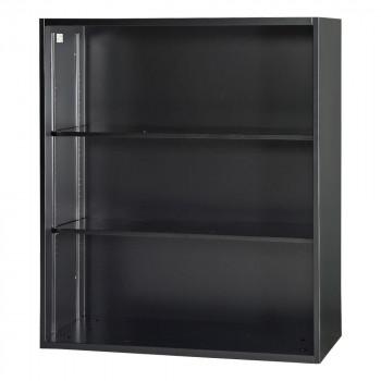 豊國工業 壁面収納庫深型オープンH1050 ブラック HOS-O1-B CN-10色(ブラック) [ラッピング不可][代引不可][同梱不可]