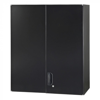 豊國工業 壁面収納庫深型両開きH1050(上置) ブラック HOS-HRUN-B CN-10色(ブラック) [ラッピング不可][代引不可][同梱不可]