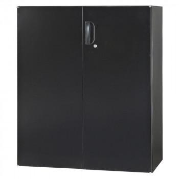 豊國工業 壁面収納庫深型両開きH1050(下置) ブラック HOS-HRDN-B CN-10色(ブラック) [ラッピング不可][代引不可][同梱不可]