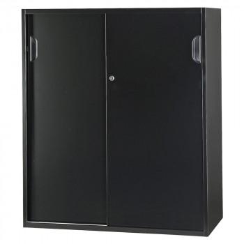 豊國工業 壁面収納庫深型引違い(下置) ブラック HOS-HKSDN-B CN-10色(ブラック) [ラッピング不可][代引不可][同梱不可]