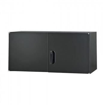 豊國工業 壁面収納庫深型上置き棚H420 ブラック HOS-U3-B CN-10色(ブラック) [ラッピング不可][代引不可][同梱不可]