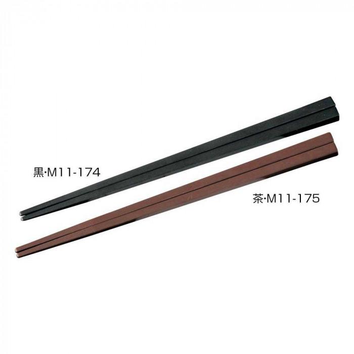 マイン(MIN) SPS箸 エンボス 四角 21cm 100膳入 黒・M11-174 [ラッピング不可][代引不可][同梱不可]
