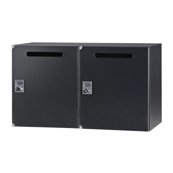 豊國工業 パーソナルロッカー(2列1段)H525 ダイヤル錠 開口付 棚板付 ブラック HOS-PDAT5252C-B CN-10色(ブラック) [ラッピング不可][代引不可][同梱不可]