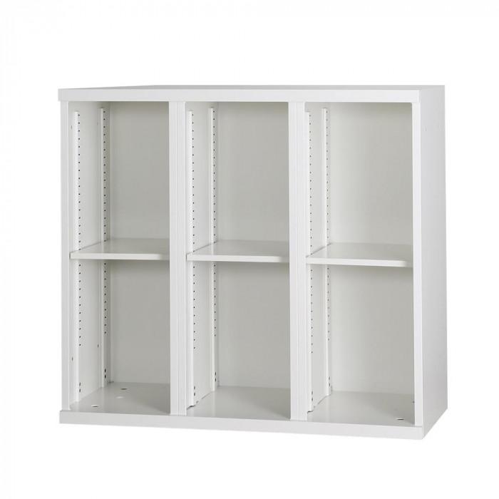 豊國工業 コンビネーション収納庫オープン3列 棚板3枚付 ホワイト NHS-K31-W サテンホワイト [ラッピング不可][代引不可][同梱不可]