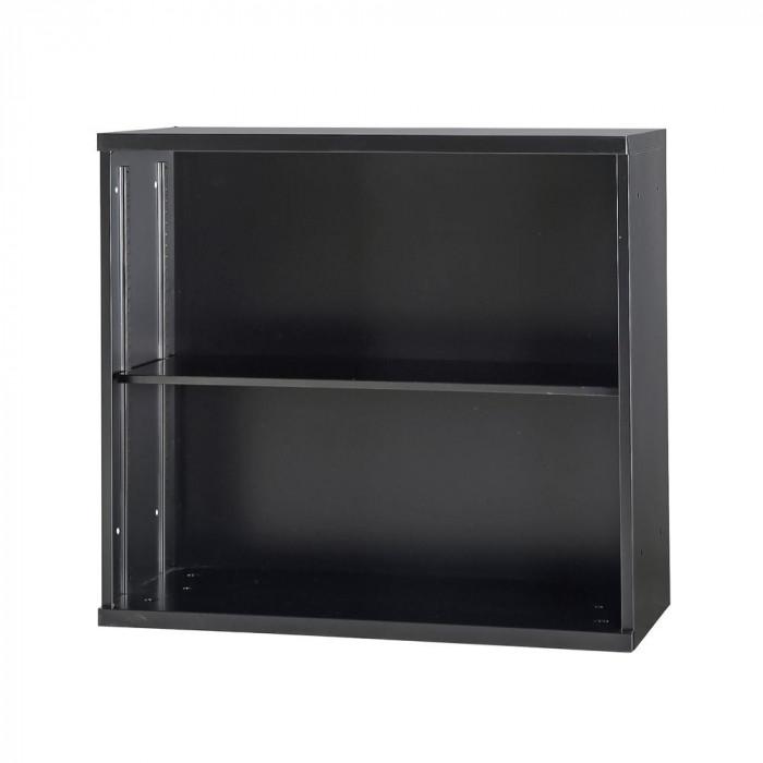 豊國工業 コンビネーション収納庫オープン1列 棚板1枚付 ブラック NHS-K11-B サテンブラック [ラッピング不可][代引不可][同梱不可]