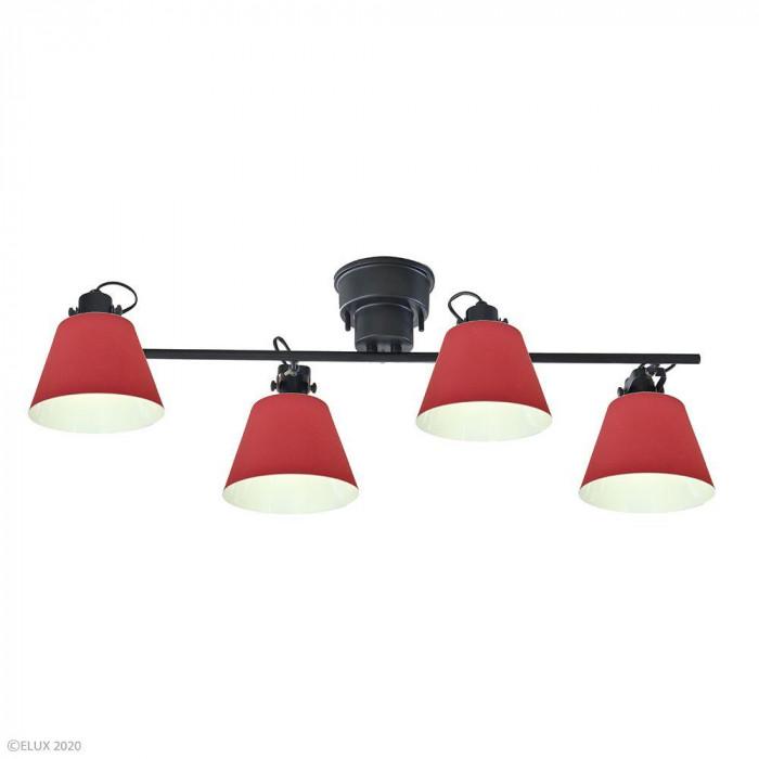 ELUX(エルックス) FLAGS(フラッグス) 4灯シーリングライト レッド LC10929-RD [ラッピング不可][代引不可][同梱不可]