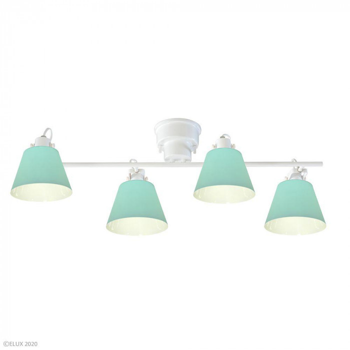ELUX(エルックス) FLAGS(フラッグス) 4灯シーリングライト ライトグリーン LC10930-LG [ラッピング不可][代引不可][同梱不可]