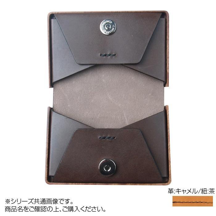 LIFE 木製名刺入れ12 革:キャメル/紐:茶 card_12_ca