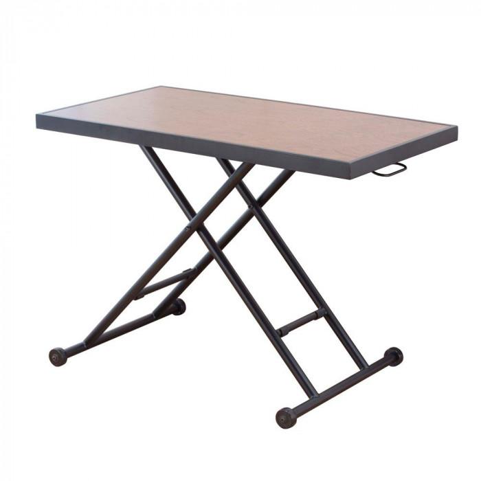 昇降式リビングテーブル HAK-20 ダークブラウン [ラッピング不可][代引不可][同梱不可]