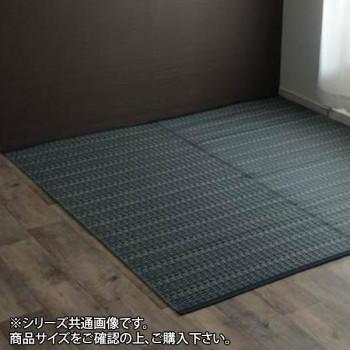 洗える PPカーペット 『バルカン』 江戸間6畳(約261×352cm) ネイビー 2126506 [ラッピング不可][代引不可][同梱不可]