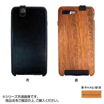 LIFE iPhone7Plus専用ケース 縦開き 革:キャメル/紐:茶 ip7plus_caca_fb