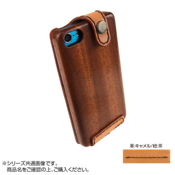 LIFE iPodtouch5/6専用ケース 革:キャメル/紐:茶 touch5/6_lccaca_bb