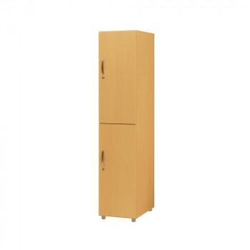 オフィス・施設向け家具 フリージョイントロッカー2段(単体) ナチュラルオーク FLW-NK [ラッピング不可][代引不可][同梱不可]