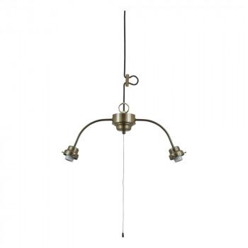 2灯用ビス止めアームCP型吊具 (真鍮ブロンズ鍍金) GLF-0293BR GLF-0293BR [ラッピング不可][代引不可][同梱不可]