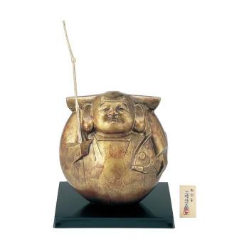 高岡銅器 置物 万福恵比須/三枝惣太郎