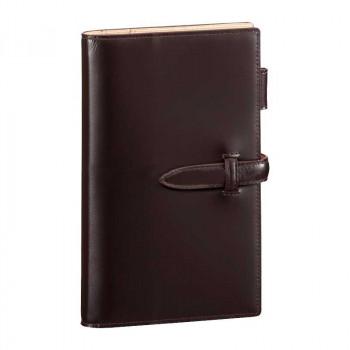レイメイ藤井 ダ・ヴィンチグランデ ペリンガーカーフ システム手帳 聖書サイズ ダークブラウン DB3018E