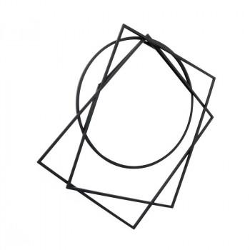 かわ畑 モダンテイスト ウォールアートアイアンミラー(鏡) 壁飾り 1908TSF006 [ラッピング不可][代引不可][同梱不可]
