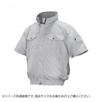 ND-111A 空調服 半袖 充白セット 4L シルバー チタン タチエリ 8209626