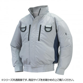 NA-113 空調服フルハーネス (服 5L) シルバー/チャコール チタン タチエリ 8209433