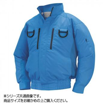 NA-113B 空調服フルハーネス 充黒セット L ブルー チタン タチエリ 8209545