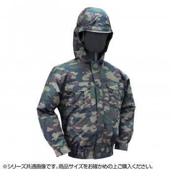 NB-102 空調服 (服 2L) 迷彩グリーン チタン フード 8209086