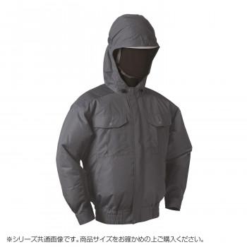 NB-101B 空調服 充黒セット L チャコールグレー チタン フード 8210083